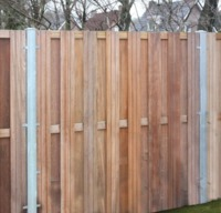 Steel Post for Wood Fence Systems