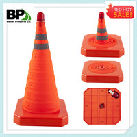Collapsible Traffic Cone With LED Lights