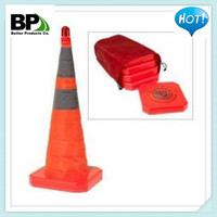 Recessed Reflective Traffic Cone, 18""