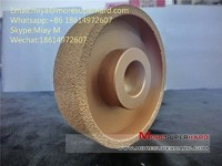 vacuum brazed diamond grinding wheel for cast iron and metal in foundry miya@moresuperhard.com