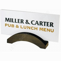 Custom menu holders standing sign holder stand