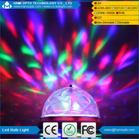 LED RGB Full Color Rotating Lamp Crystal DJ Party Stage Light Bulb AC85-265V,E27