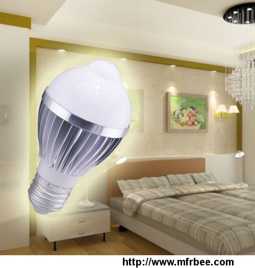 PIR E27 5W LED Bulb Human Infrared Auto Motion Sensor Light White Lamp AC85-265V