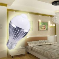 more images of PIR E27 5W LED Bulb Human Infrared Auto Motion Sensor Light White Lamp AC85-265V