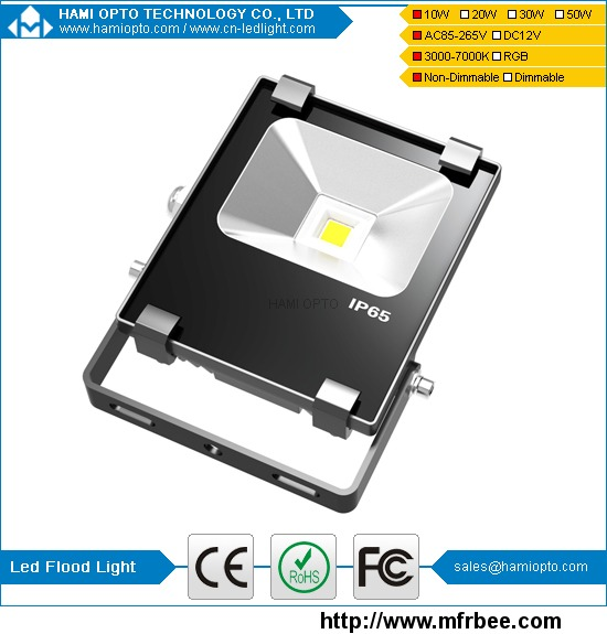 New fin heat sink 10w ip65 led flood light AC85-265V CE RoHS approved