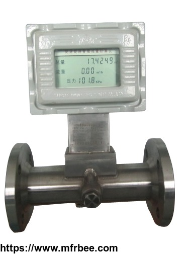 Gas turbine flow meter/Integration/With liquid crystal display/With temperature and pressure compensation/With signal output/Metering coal gas/Metering gas