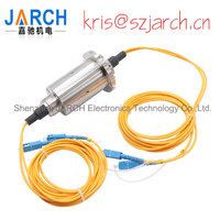 JARCH Low speed 2 channels Fiber SC LC FC ST Connector FORJ Fiber Optic slip ring