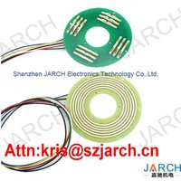 Electrical Filling Equipment 5mm Pancake Slip Ring , Slip Rings Commutator Mini Rotary Swivel Joint Slip Rings