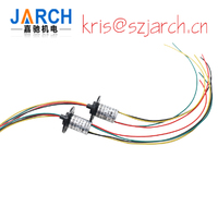 Micro high Speed Slip Ring Capsule Sliprings OD6.5mm 4/6/8/12 Circuits 1A fiber optic rotary joint