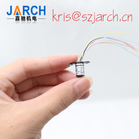 Mini Slip Ring Capsule Sliprings OD6.5mm 4/6/8/12 Circuits 1A Power Rotary Union Joints for Current Signal Transmission