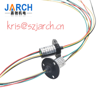 Rotary Joints 4 Circuits 10A of Capsule Slip Ring Mini Flange Slipring with Outer Diameter 22mm