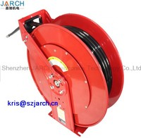 Double Tube Spring Hydraulic Roller Dual Pedestal Oil Hose Reel, Spring Auto Hose Reel for air/water/oil
