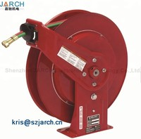 Lay Flat High Pressure Water Air Heavy Duty Spring Retractable Garden Hose Reel