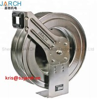 304 Stainless Steel Spring Retractable Hose Reel water air extension cable reels with 5 million life time rotary joint