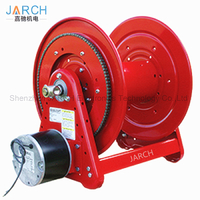 24V AC Motor Driven 100 ft. Heavy Duty Hose Reel Air motor driven cable reel
