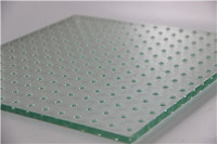 Low iron tempered heat strengthened  acid etched Anti skid laminated glass