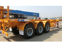 CIMC 3 Axles Skeleton Container Semi-trailer 40ft Container Trailers