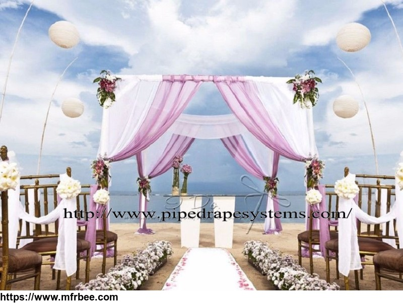 Backdrop kits or wedding tent pipe and drape for wedding
