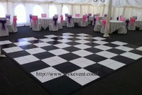 more images of Wedding wood black and white dance floor