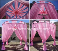 adjustable pipe and drape wedding backdrop for sale