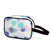 China manufacturer leather print cosmetic bag makeup bag for promotion