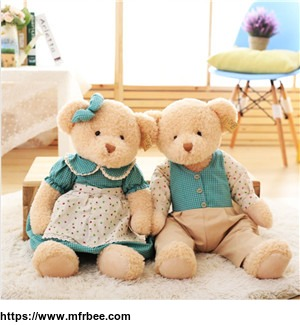 classic_design_jointed_plush_dressed_up_couple_teddy_bear_toy