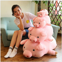 more images of 2019 New year custom size adorable wholesale pink plush pigs toys