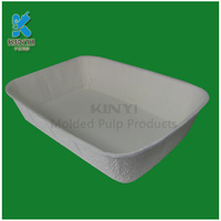 Dry pressing molded pulp seed tray