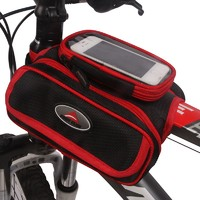 Bicycle Frame Pannier Bag and Front Tube Cell Phone Bag