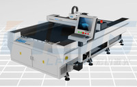 HS-F1325 medium power fiber laser cutting machine cut stainless steel