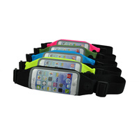 Sport waist bag with touch window