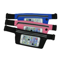 Ultra thin waist bag with touch window