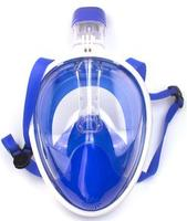 Blue Snorkel Mask Full Face with Gopro
