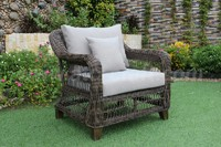 Grey Outdoor Wicker Sofa Set Rasf-121