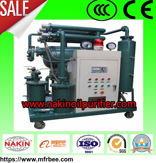 zy_single_stage_vacuum_insulating_oil_purifier