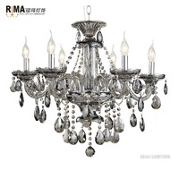 Wholesale 6 light glass chandelier modern crystal wedding centerpieces chandelier