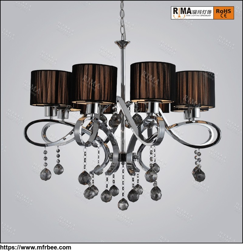 wrought iron chandelier lights with crystal interior decoration hanging chandelier pendant light
