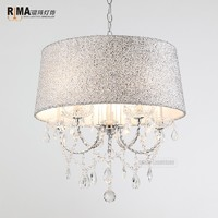 2018 RIMA LIGHTING Updated Hot Sale Modern Glass Crystal Chandelier Pendant Lamp with New Shade for Dinning Room or Salon