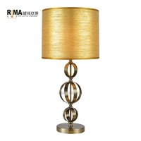 Hot sales nordic fabric lampshade home decoration fancy dinning decorate beside table lamp