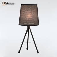 Zhongshan Guzhen RM1009 Table Lighting Home Classic Office Decorate Luxury Fabric Lamp shade