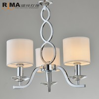 RM0340 fabric lampshade classic Reading room stainless steel modern Dimming table lamp