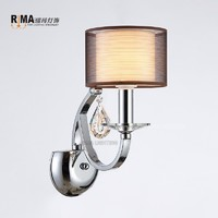 Factory Supplier Decoration Chrome Elegant hotel wall lamp Indoor lamp light made in china