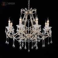 Rima7121 home decoration classic Glass Candle Shape Holder Crystal fancy Candle Wall Lamp