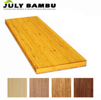 Bamboo laminated solid wood table top wood cabinet table kitchen counter top