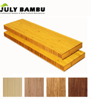 Unfinished bamboo wood blocks laminated wood block board 38mm for countertops table tops