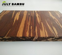 Cheap Strand Carbonized Tiger Bamboo Flooring Use For Indoor