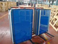 Silk screen printed glass wall