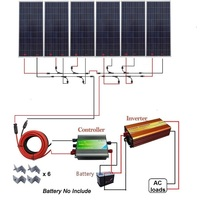 900W 24V Polycrystalline Off Grid Solar Panel Kit for Homes, RVs