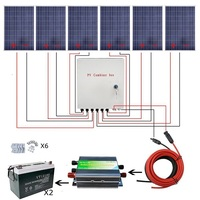 600W Off Grid Poly Solar Panel System For Charging 12/24V Equipment