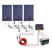 300W Off Grid Solar Panel Kits for 12V Charging System in Home Car Boat